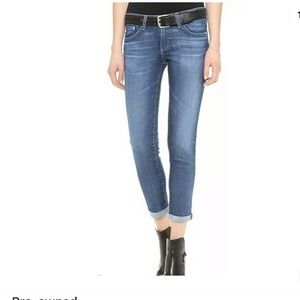 AG The Stilt Roll-up Cigarette Crop Jeans 28